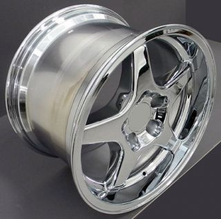 "17"" 9 5 11 Chrome ZR1 Style Wheels Rims Fit Camaro Corvette"