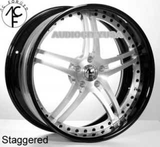 "22"" AC Forged SPLIT5 St BK 3pc Wheels and Tires Rims for BMW Series Mercedes"