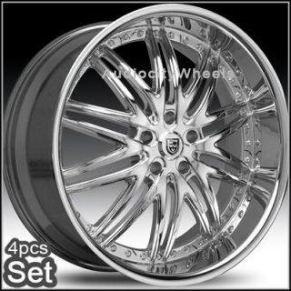 26inch Lexani LX10 Wheels Rims for Land Range Rover Chrome Huge Lip