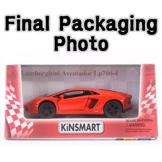 1 38 Lamborghini Aventador LP700 4 Color Red Diecast Kinsmart