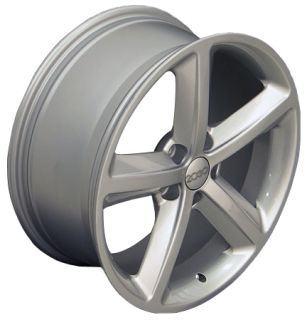 "18"" A5 Style Wheels Silver 18x8 Rim Fits Audi Set"