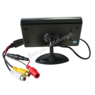 "3 5""TFT LCD Display Car Reverse Rearview Color Monitor for DVD VCR Backup Camera"
