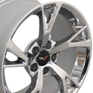 "19"" Chrome Corvette Grand Sport C6 Z06 Chevrolet Factory Original Wheel"