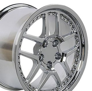 "17"" 18"" 9 5 10 5 Chrome Z06 Wheels Rims Fit Camaro Corvette"