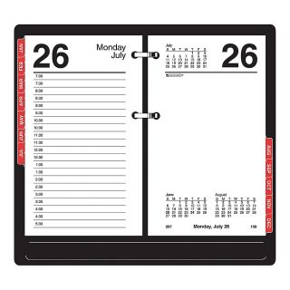 Calendar Refill With Monthly Tabs, 3 1/2 x 6, January December 2013