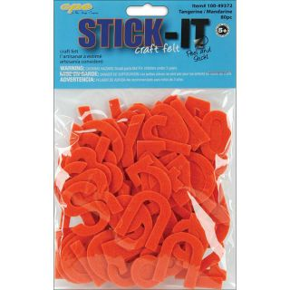 Stick It Felt Tangerine Numbers and Letters (Case of 80) Stickers