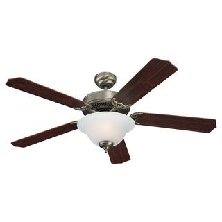 Sea Gull Lighting Quality Max Plus 52 inch Antique Brushed Nickel Ceiling Fan with Bowl Light Sea Gull Lighting Ceiling Fans