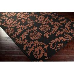 Prague Russet Floral Indoor/Outdoor Rug (8'9 x 12'9) Surya Oversized Rugs