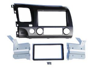 Honda Civic 2008 2011 Dark Gray Grey Blue Aftermarket Double Din Installation Dash Kit Automotive