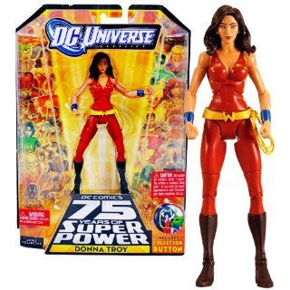 "Mattel Year 2009 DC Universe ""DC Comics 75 Years of Super Power"" Wave 13 Classics Series 6 Inch Tall Action Figure #7   DONNA TROY with Trigon's Head and Lower Torso Plus Bonus Collector Pin (R5786) Toys & Games"