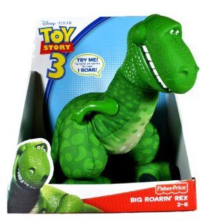 Fisher Price Year 2009 Disney Pixar Toy Story 3 Series 13 Inch Tall Dinosaur Plush Figure with Sound   BIG ROARIN' REX Toys & Games