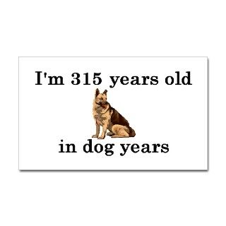 45 birthday dog years german shepherd 2 Decal by PARTYHUT