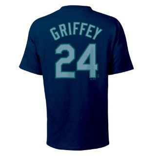 Ken Griffey Jr. Seattle Mariners Youth Name and Number T Shirt (Large) Sports & Outdoors