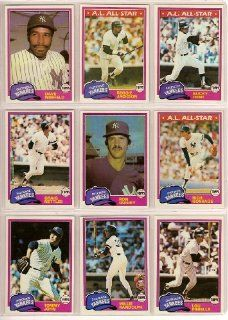 1981 Topps New York Yankees Baseball Master Team Set w/ Additional Year End High Number Cards (38 Cards) (American League Champions) (Reggie Jackson) (Ron Guidry) (Tommy John) (Willie Randolph) (Rick Cerone) (Graig Nettles) (Jim Spencer) (Goose Gossage) (G