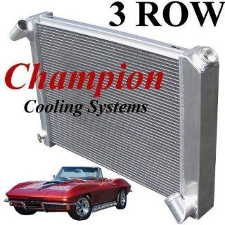 3 Row All Aluminum Replacement Radiator for the 1966 Corvette, 1967 Corvette Replacement Radiator, 1968 Corvette Replacement Radiator, Corvette Replacement Radiator, Corvette Radiator   Manufactured by Champion Cooling Systems, Part Number 615 Automotive