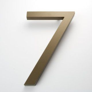 "Modern House Number Bronze Color Aluminum Modern Font Number Seven ""7"" 6 inch Patio, Lawn & Garden"