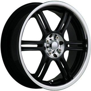 Akuza 424 17 Black Wheel / Rim 5x100 & 5x4.5 with a 45mm Offset and a 73 Hub Bore. Partnumber 424770010+45GBLC Automotive