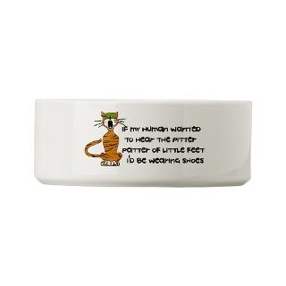 Child Free Kitty Cat Small Pet Bowl by child_free