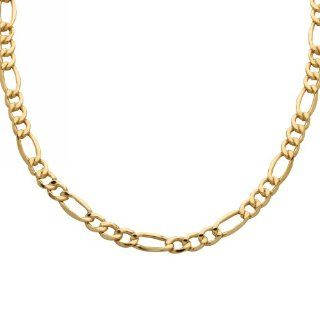 "Klassics Men's 10k Yellow Gold 7mm Figaro Chain, 22"" Jewelry"
