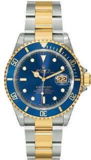 Rolex 11613BL Oyster Perpetual Submariner Date Two Tone Steel Mens Watch Blue Dial Oyster Perpetual Calendar Sapphire Crystal Serial Number Certified Rolex Watches