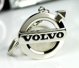 new High Quality 3d Metal Volvo Auto Car Keychain Key Ring with Gift Box