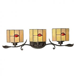 Dale Tiffany Fantom Leaf 3 Light Vanity Fixture