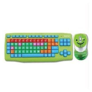 KOBIAN USA INC THIS BIG BUTTON USB KEYBOARD/MOUSE, HAS DIFFERENT COLORED NUMBERS, VOWELS AND CO HS KIDKB01 S