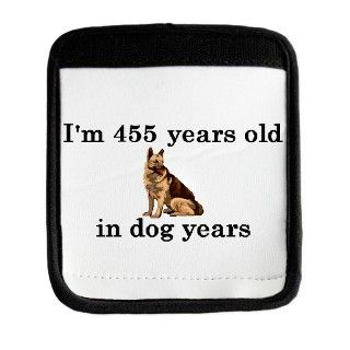 65 birthday dog years german shepherd 2 Luggage Handle by PARTYHUT