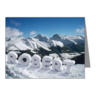 Your Personalized Name in Snow Note Cards (Pk of by captainnotepad