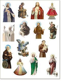 Pope John Paul II, Saint Anthony, Michael, Christopher, Benedict & More Catholic Religious Magnets Lot Total 14 Different