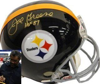 Joe Greene Autographed/Hand Signed Pittsburgh Steelers Full Size Replica TB Helmet HOF 87  PSA Holog Sports Collectibles