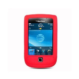 BlackBerry Torch 9800 9810 Red Soft Silicone Gel Skin Cover Case Cell Phones & Accessories