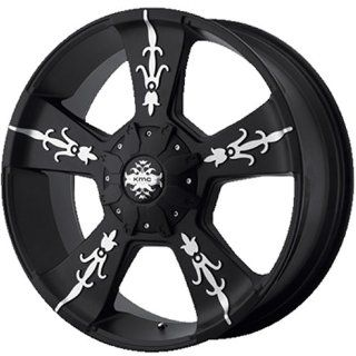 KMC KM668 22x9 Black Wheel / Rim 8x6.5 with a 18mm Offset and a 125.50 Hub Bore. Partnumber KM66822980718 Automotive