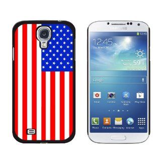 Graphics and More USA American Flag Snap On Hard Protective Case for Samsung Galaxy S4   Non Retail Packaging   Black Cell Phones & Accessories