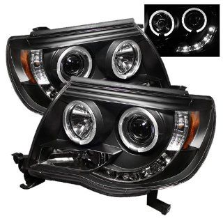 2005 2007 Toyota Tacoma SR LED Black Halo Projector Headlights Automotive