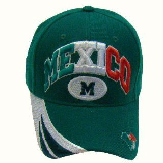 Mexico Mexican Flag Logo Emblem Baseball Cap Embroidered Stitching, Green Hat, Men, Women, Ladies, Teens, Mexican Flag Hispanic Headwear,