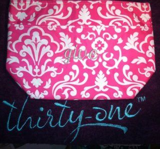 "Thirty One URU Thermal Lunch Tote Pink Parisian Pop Embroidered Wih ""Give"" in Platinum  Other Products"