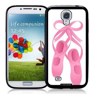 Pink Ribbon And Ballet Slipper Shoes   Protective Designer BLACK Case   Fits Samsung Galaxy S4 i9500 Cell Phones & Accessories