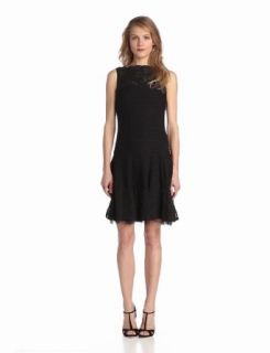 Julian Taylor Women's Crinkle Sleeveless Dress, Black, 6 Missy Clothing