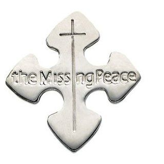 Mens Womens Sterling Silver The Missing Peace Lapel Pin Stuller � Jewelry
