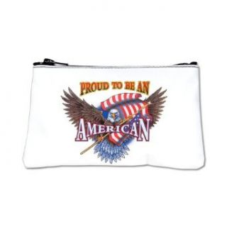 Artsmith, Inc. Coin Purse (2 Sided) Proud To Be An American Bald Eagle and US Flag Clothing