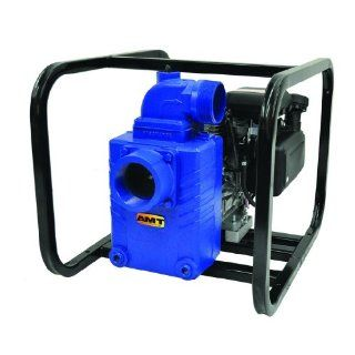 "AMT Gasoline Engine Driven Solids Handling Pump, Cast Iron, 2"" and 3"" NPT Suction & Discharge Ports"