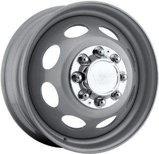 19.5x6.75 Vision Hauler Dually Steel Front Silver Paint Wheel Rim 8x200 +127.15mm Offset 143.04mm Hub Bore Automotive