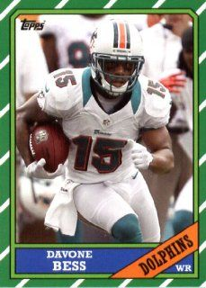 2013 Topps Archives NFL Football Trading Cards # 129 Davone Bess Miami Dolphins Sports Collectibles