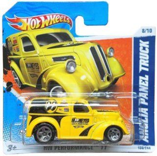 ANGLIA PANEL TRUCK (Yellow Mooneyes) * 2011 Hot Wheels #138/244 HW Performance 11 #8/10 164 scale car on SHORT CARD