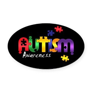Autism Awareness Puzzle Oval Car Magnet by Admin_CP2489903