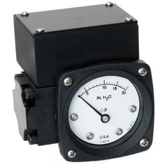 "Mid West 142 SA 00 0(TT) Differential Pressure Gauge, 316 Stainless Steel Case, 316 Stainless Steel Wetted Parts and 4 20 mA Transmitter in NEMA 4X/IP66 Aluminum Enclosure, Diaphragm Type, 2% Full Scale Accuracy, 2 1/2"" Dial, 1/4"" FNPT Back Conne"