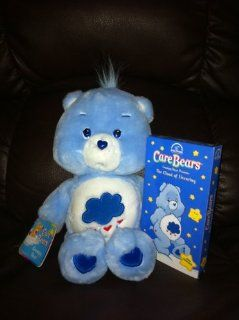 "Grumpy Bear CARE BEARS Plush 13"" with VHS Video The Cloud of Uncaring Toys & Games"