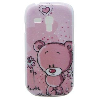 Early Shop Lovely Cartoon Pink Bear Design Hard Back Case for Samsung Galaxy S3 mini i8190 Cell Phones & Accessories