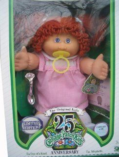 Cabbage Patch Kids 25th Anniversary Doll   Caucasian Girl with Red Hair Toys & Games